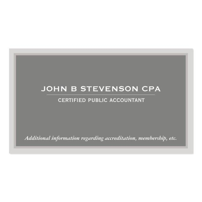 Accounting  Business Card