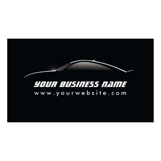 Automotive Cool Car Outline Auto Repair Business Card