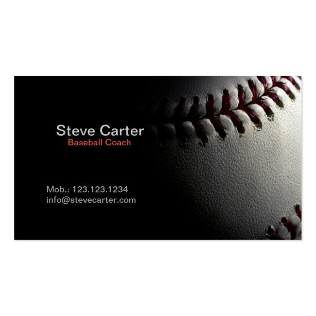 Baseball Coach Or Player Fitness Sport Card