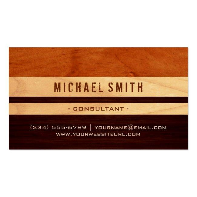 Beautiful Wood Grain Stripes - Professional Unique Business Card