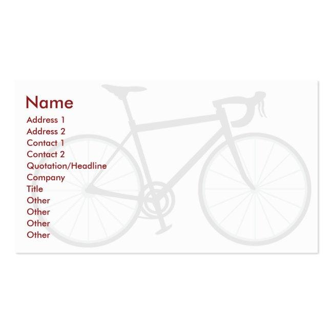 Bike - Business Business Card