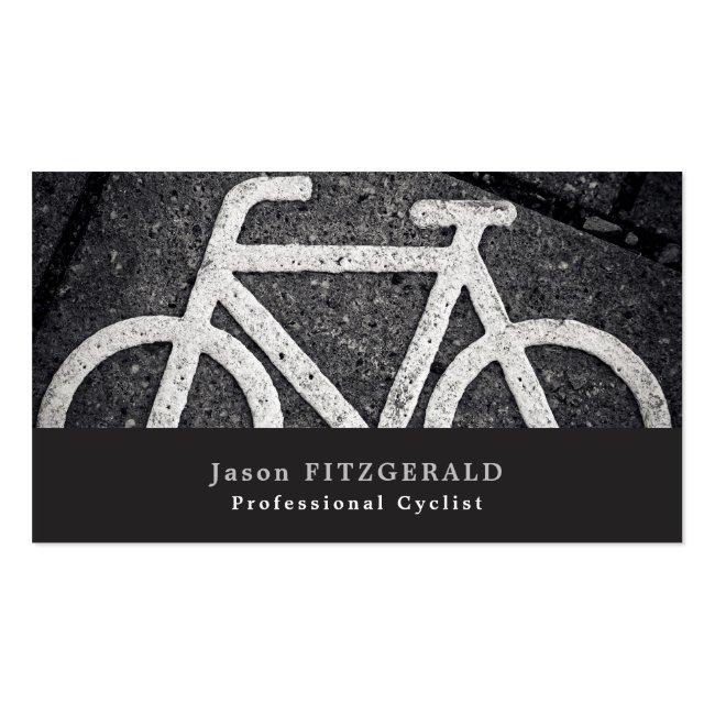 Bike Symbol, Cycling, Bicyclist Business Card