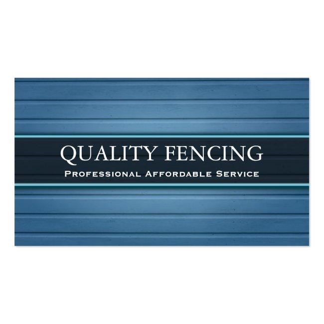Blue Fencing / Boarding Business Card