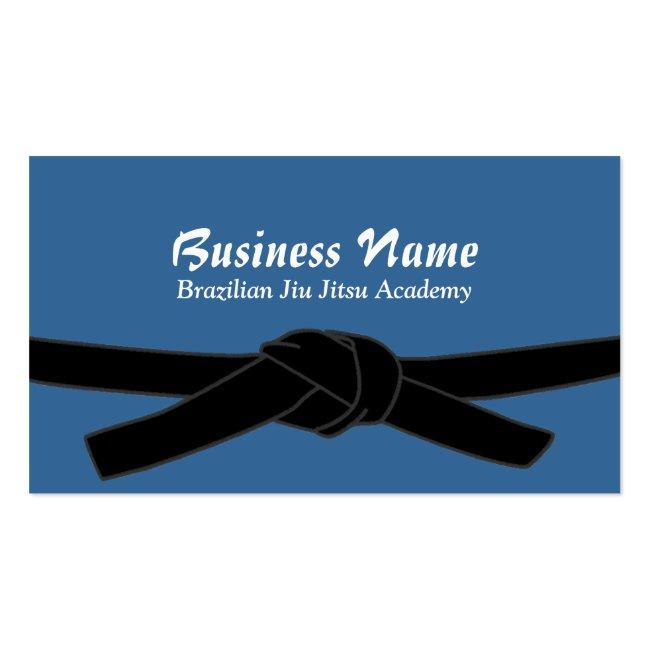 Brazilian Jiu-jitsu Academy Black Belt Master Business Card