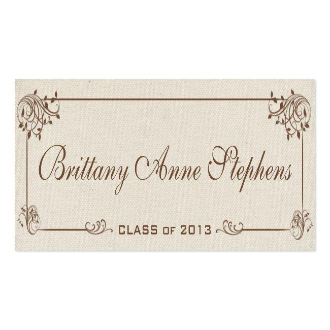 Canvas Graduation Name Card Insert