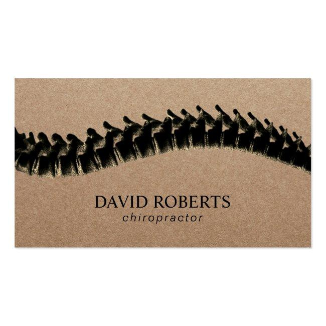 Chiropractor Chiropractic Spine Therapist Rustic Business Card