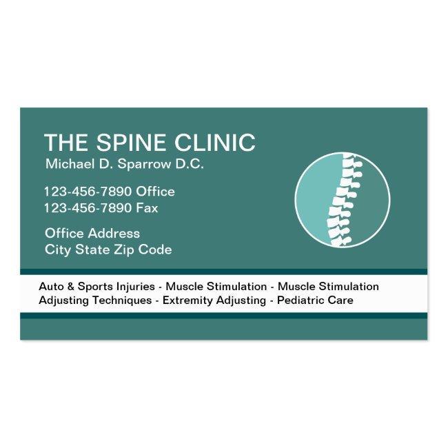 Chiropractor Modern Spine Symbol Business Card
