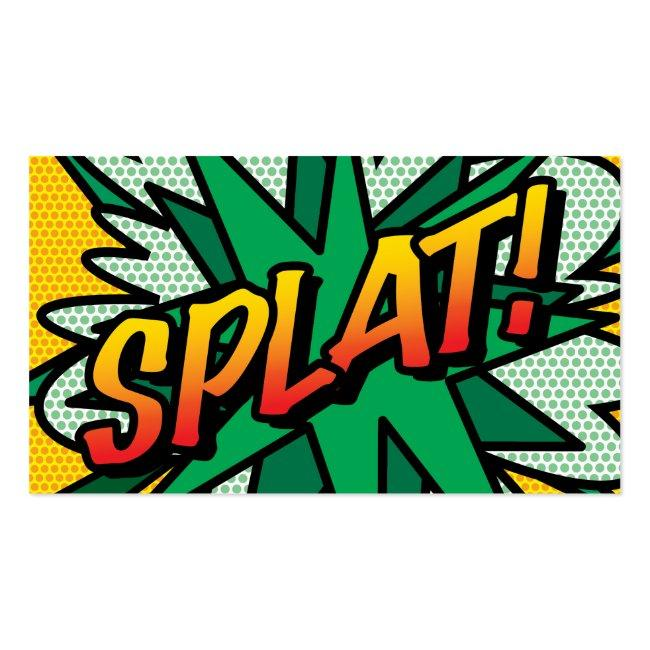 Comic Book Pop Art Splat! Business Card