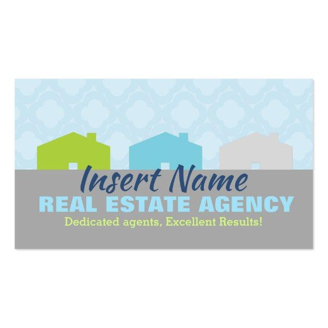 Cute Real Estate Agency Business Cards