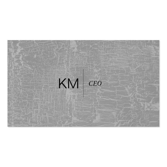 Divider Line With Black Tab / Marbled Gray Business Card