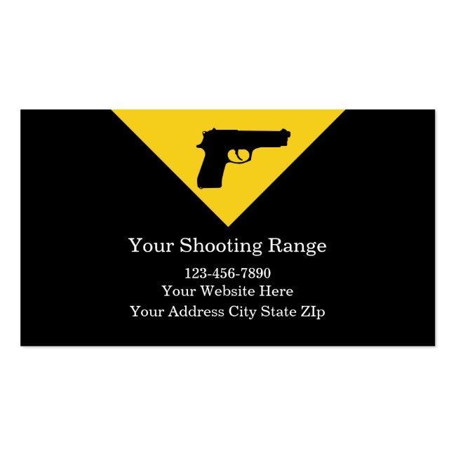 Firearms Range Business Cards