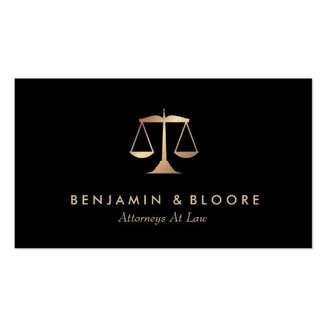 Golden Scale Attorney Business Cards