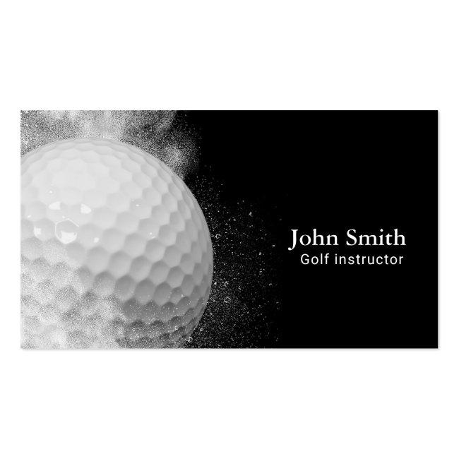 Golf Instructor Golf Ball Business Card