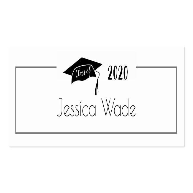 Graduation Cap Name Card Class Of 2020