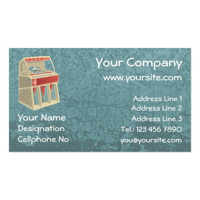 Grunge Jukebox Business Card
