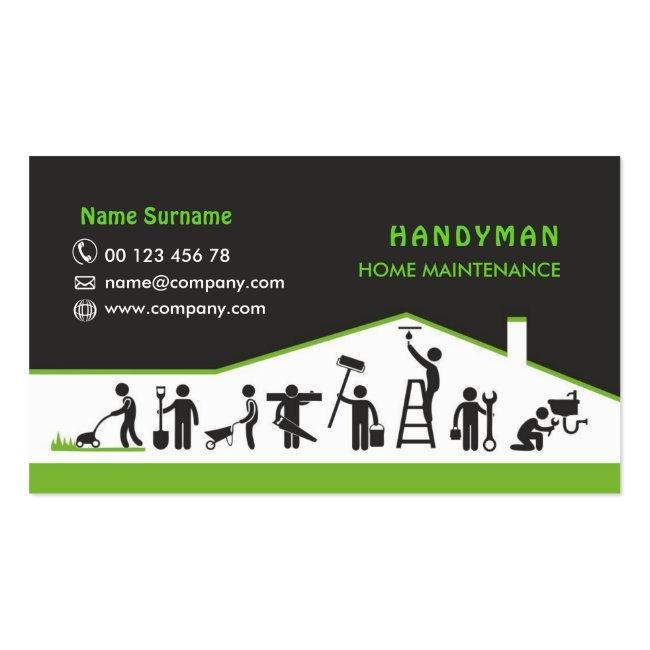 Handyman Services, Home Maintenance Business Card
