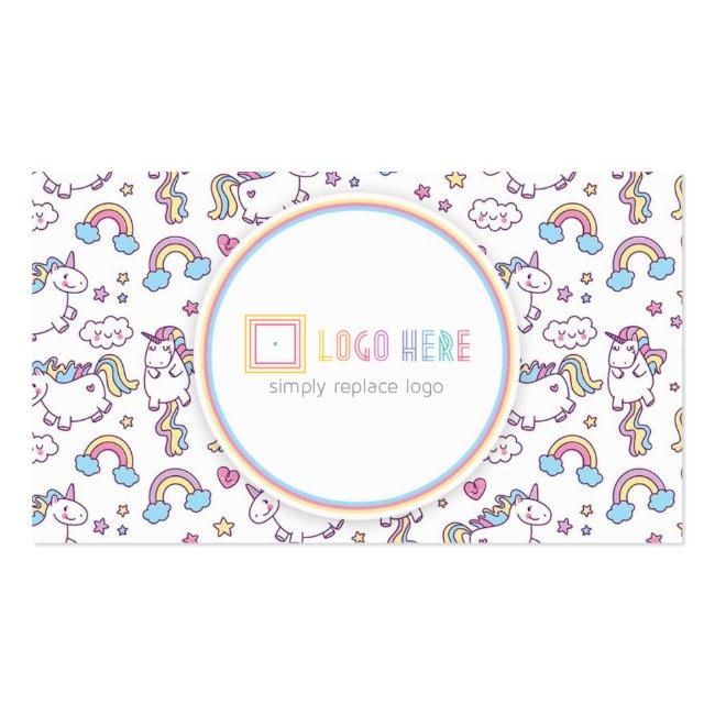 Independent Fashion Retailer Business Card Unicorn