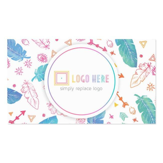 Independent Fashion Retailer Business Cards Boho