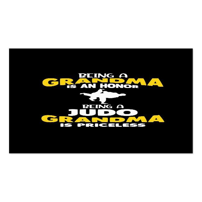 Judo Grandma Family Martial Arts Self Defense Business Card