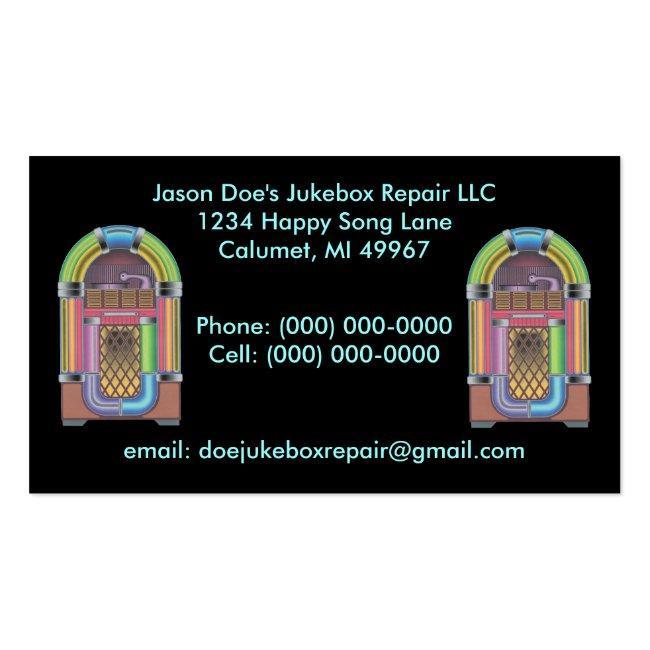 Jukeboxes Jukebox ~ Retro Style Business Card