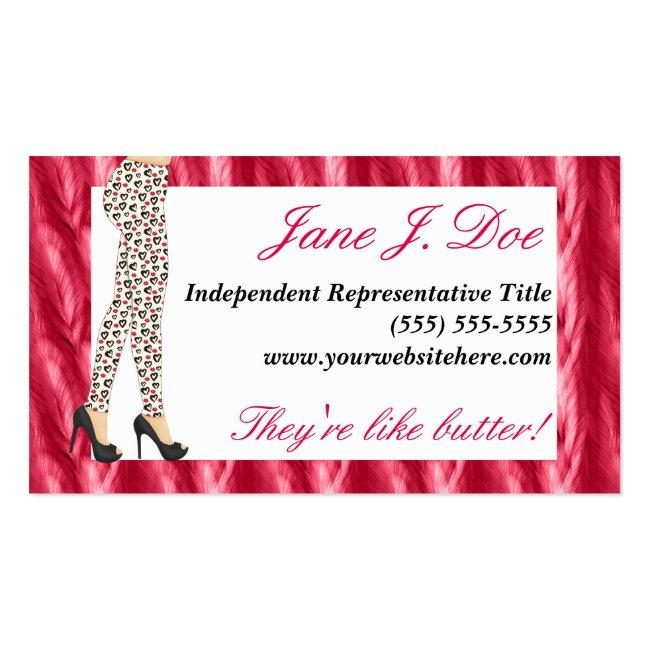 Leggings Sales, Pink Feathers Business Card