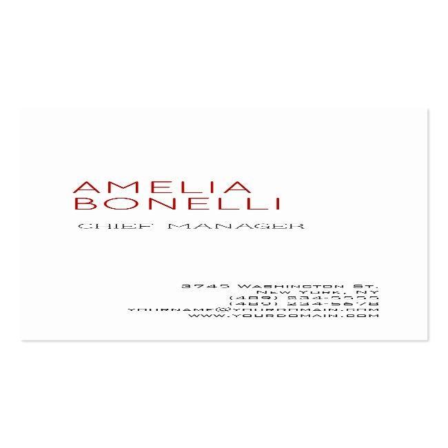 Linen Modern Minimalist Professional Plain White Business Card