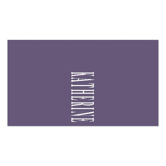 Modern Elegant Lavender Minimalist Photo Writer Mini Business Card