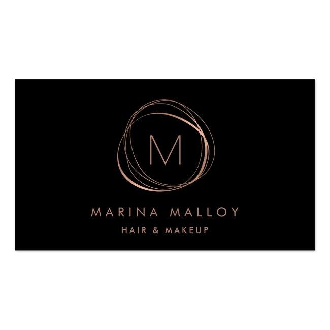 Modern Faux Rose Gold Abstract Business Card