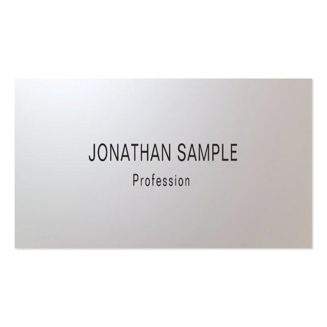 Modern Minimalist Glam Creative Clean Template Top Mini Business Card