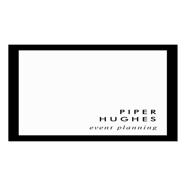 Modern Minimalist Square Business Cards | Black