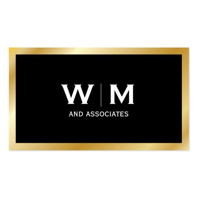 Monogram   Executive Gold Business Card