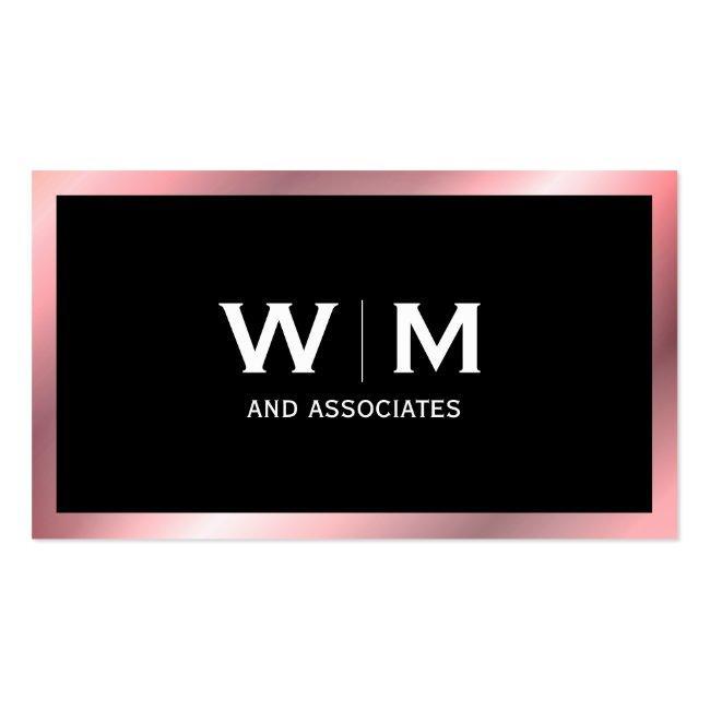 Monogram | Executive (rose Metallic) Business Card