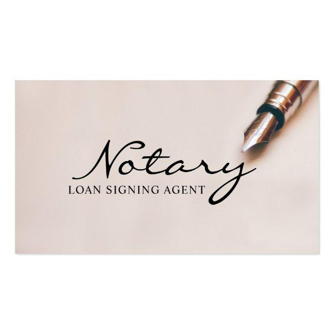 Notary Loan Signing Agent Modern Elegant Business Card