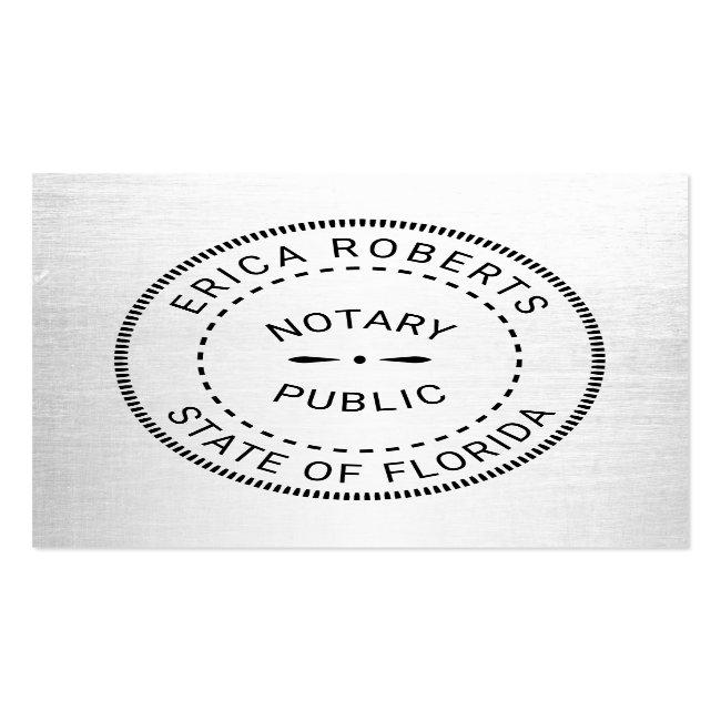 Notary Public Stamp Plain Minimalist Square Business Card