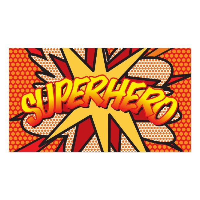 Personalised Comic Book Pop Art Superhero Business Card