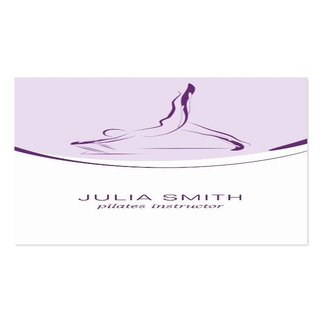 Pilates Instructor Card With Two Pilates Poses