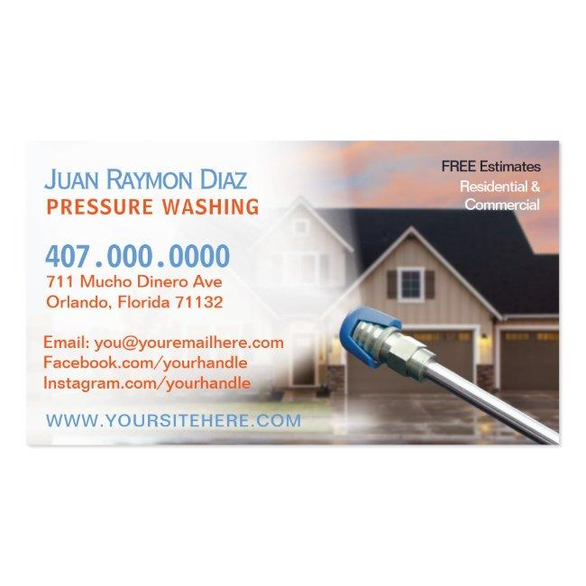 Pressure Washing & Power Cleaning Template Business Card