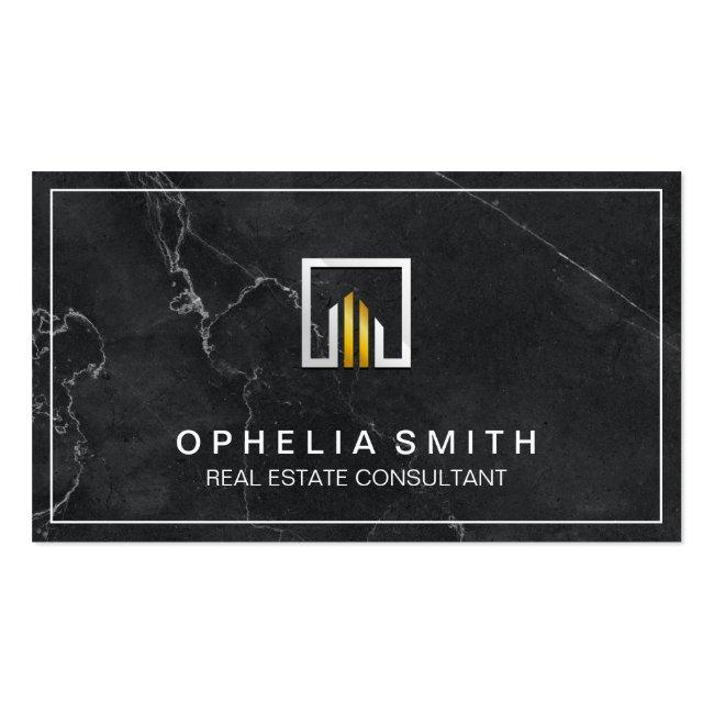 Real Estate | Realtor Agent | Executive Marble Business Card