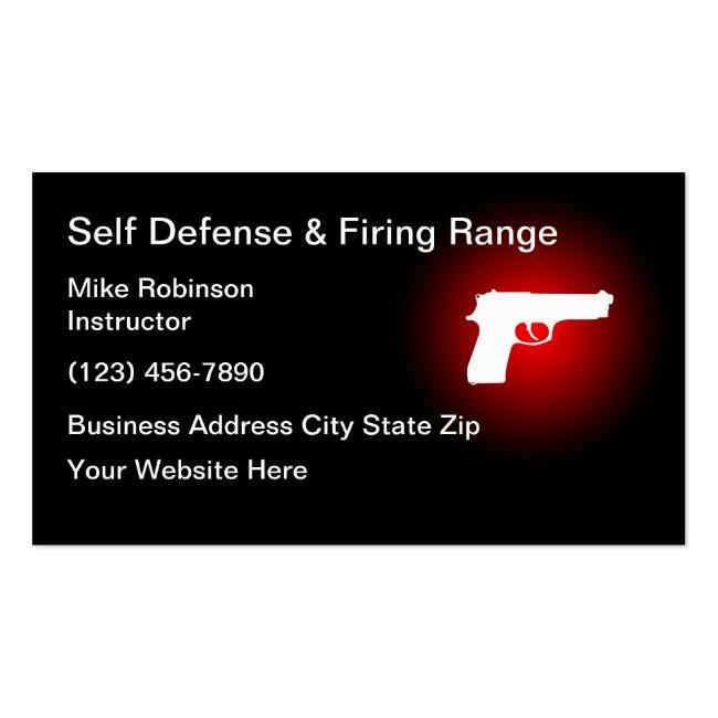 Self Defence Shooting Range Business Card