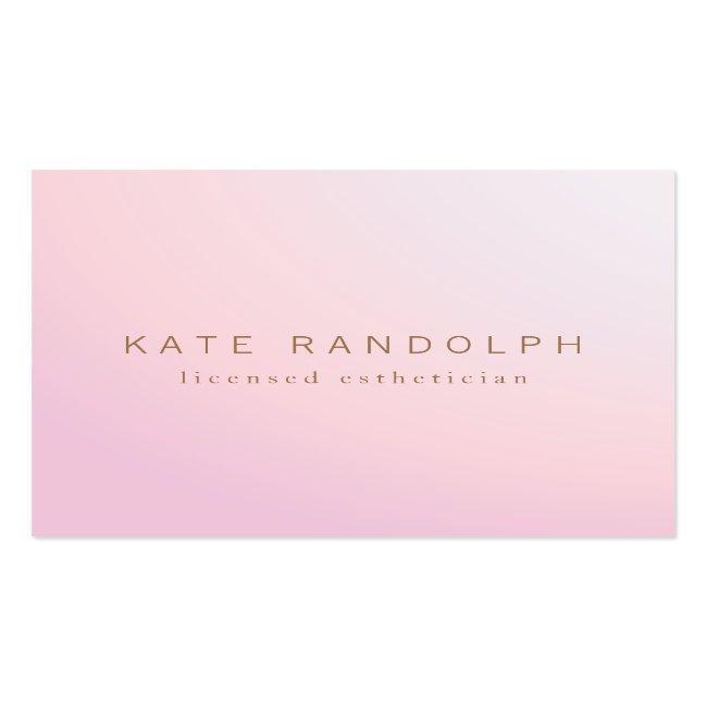 Simple Pink Lavender Ombre Esthetician Square Square Business Card
