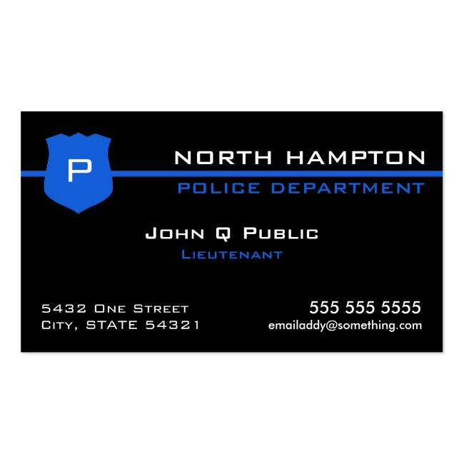 Thin Blue Line American Flag Business Card