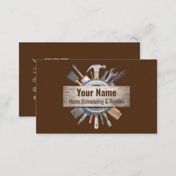 02-2021 customizable handyman contractor tools v4 business card