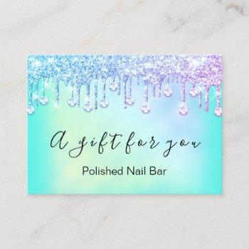 100 gift certificate nais holograph pink bluedrip