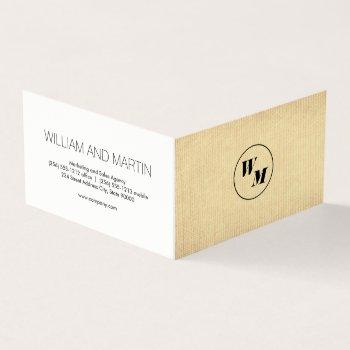 2 letter monogram / corporate business card