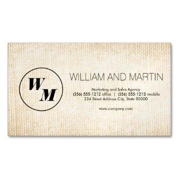 2 letter monogram / corporate business card magnet