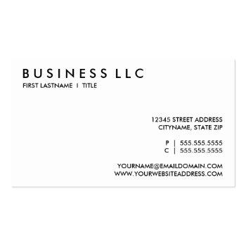 Small 2nd Amendment. Business Card Back View