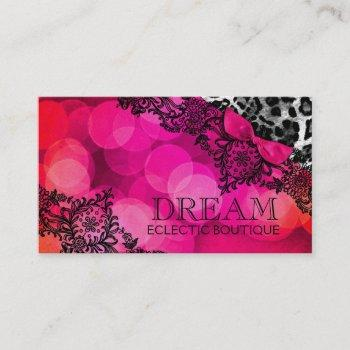 311 dream in leopard and lace business card