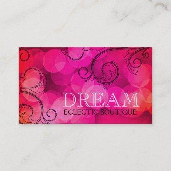 311 dream in lights pink pearl shimmer paper business card
