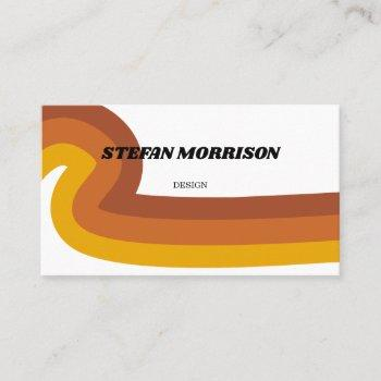 70s swirl business card