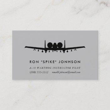 a-10 warthog pilot business card